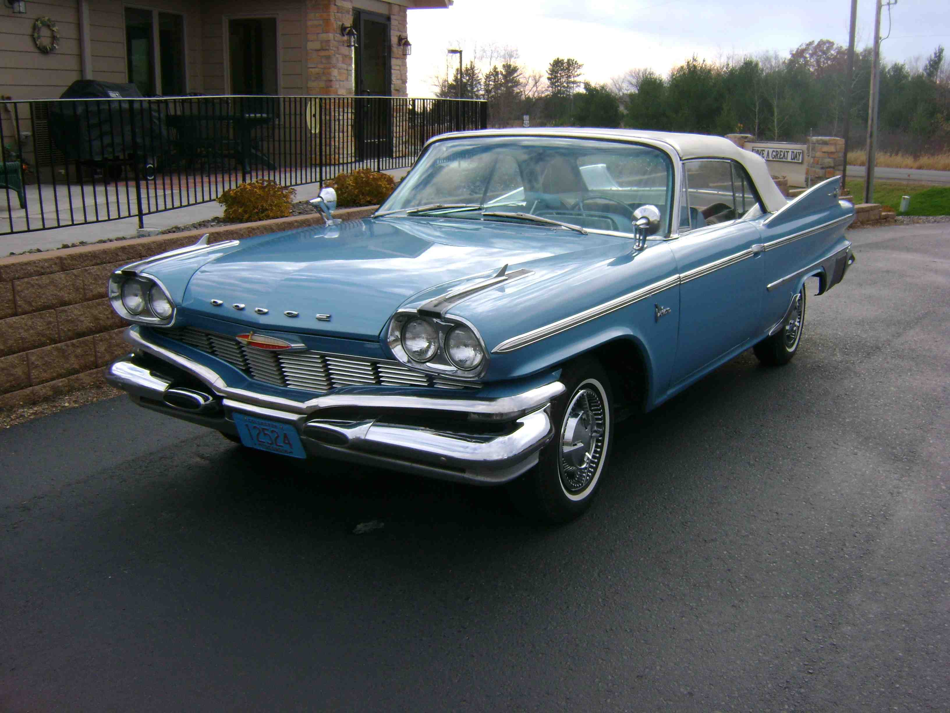 1960 dodge polara convertible d500 car is for sale contact brad at